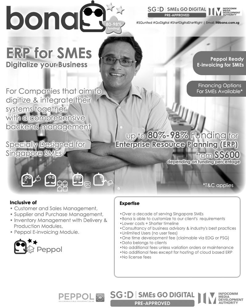 BonaERP Package (E30) ERP for SMEs